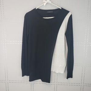 Zara Knit | Black and White Sweater